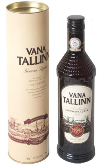 """Изображение Ликер """"VANA TALLINN"""" в Тубе 40% 0,5л"""