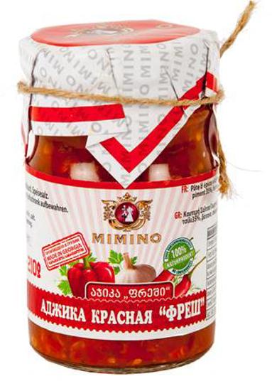 """Изображение Mimino Аджика Kрасная """"Фреш"""" 210g"""