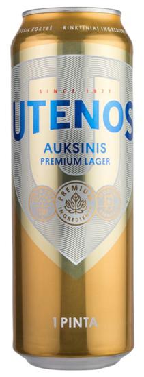 "Изображение Пиво в банке ""Utenos Auksinis"" 5.0% Alc. 0,568 л"