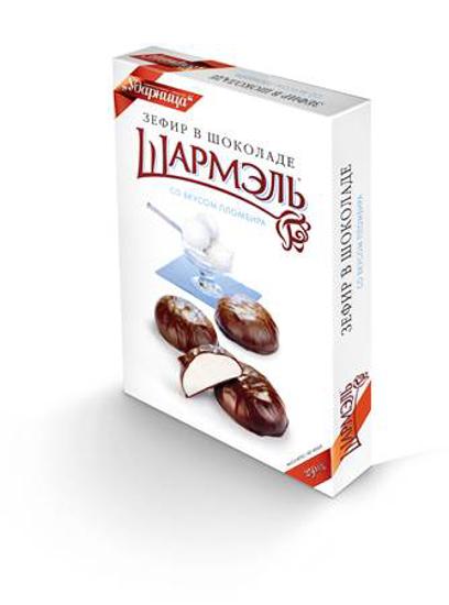 Изображение Зефир Шармэль 250g в шоколаде Пломбир