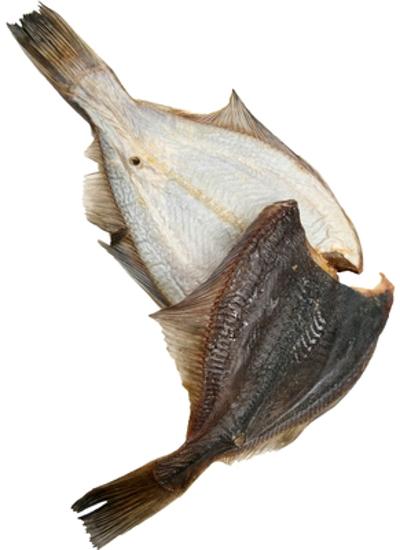 Изображение Камбала крупная сушёная потрошеная ± 300g