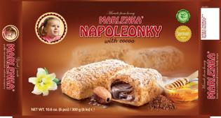 Изображение Традиционные мини-пирожные Наполеонки с какао-кремом (6 шт. В упаковке)