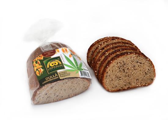 Изображение Kисло-сладкий хлеб с овсяными зернами и нарезкой конопли 400г