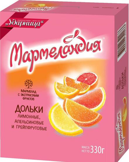 Изображение Мармелад фруктовые дольки 330g