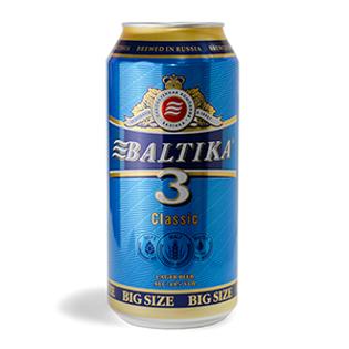"""Изображение Пиво в банке """"Балтика 3 Классический лагер"""" 4.8% об. 0,9 л"""