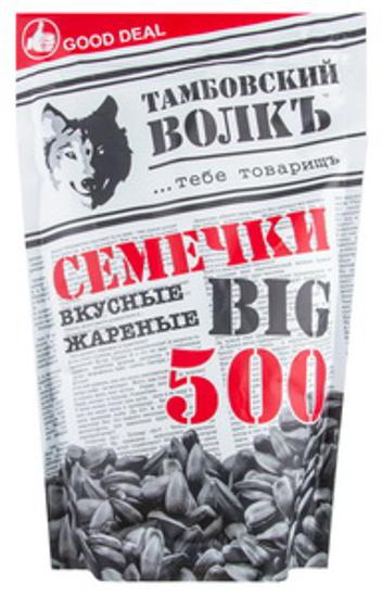 """Изображение Семечки черного подсолнуха жареные """"Тамбовский волк Большой"""" 500гр"""