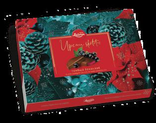 Изображение Рождественские сладости, Желе из черной смородины в темном шоколаде, Laima 190g